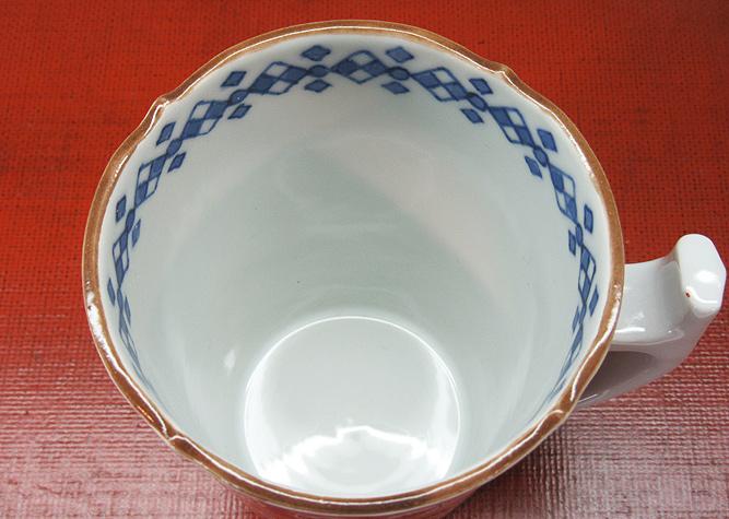 清水焼 マグカップ 赤濃丸紋