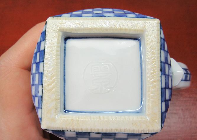清水焼 マグカップ 磁彩唐草文