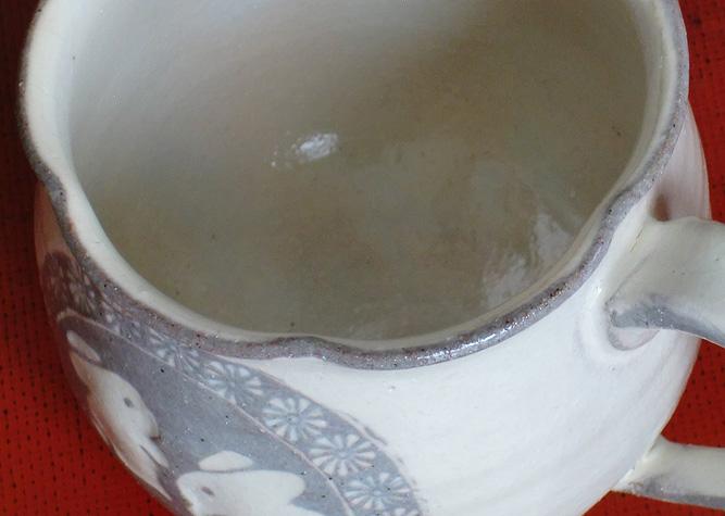 清水焼 マグカップ 粉引うさぎ