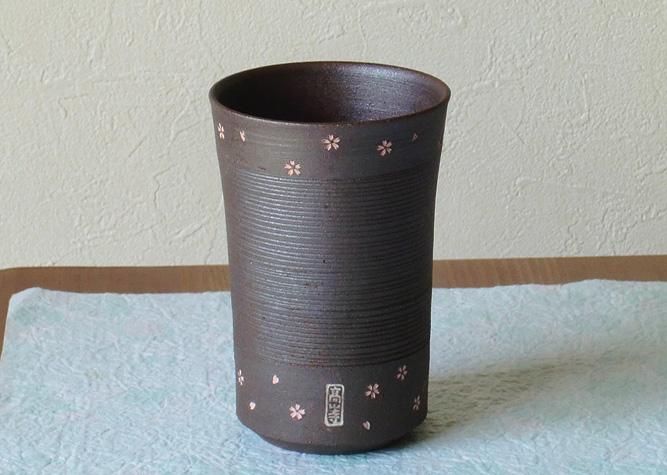 清水焼 マグカップ 焼〆高山寺