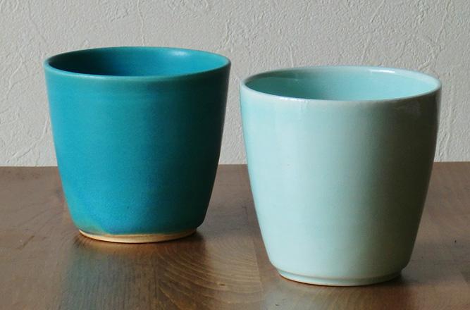 清水焼 マグカップ トルコ釉