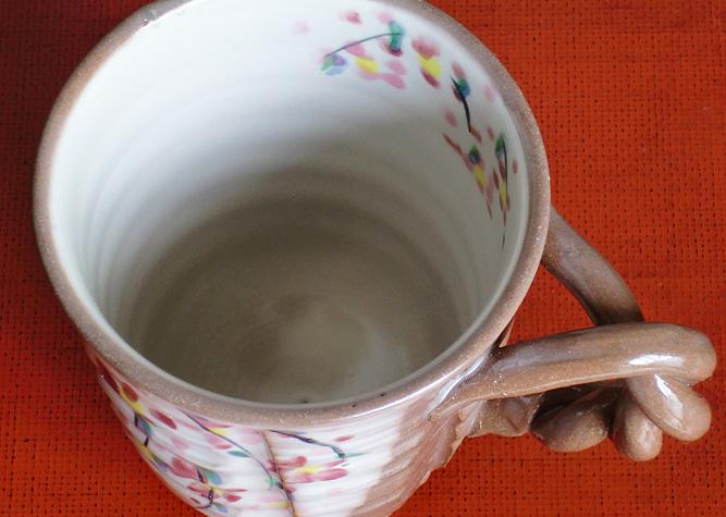 清水焼 マグカップ しだれ桜