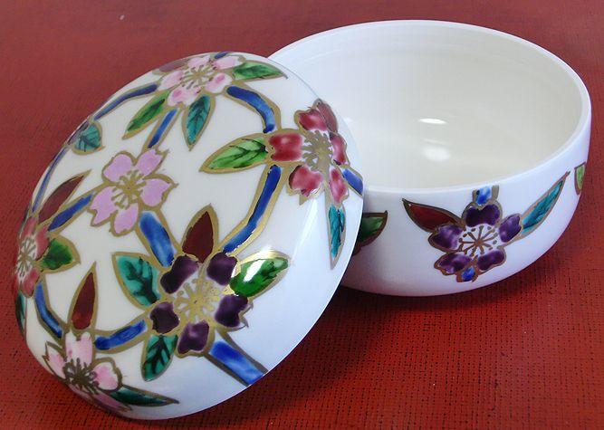 清水焼 食卓小物 花桜(蓋物)