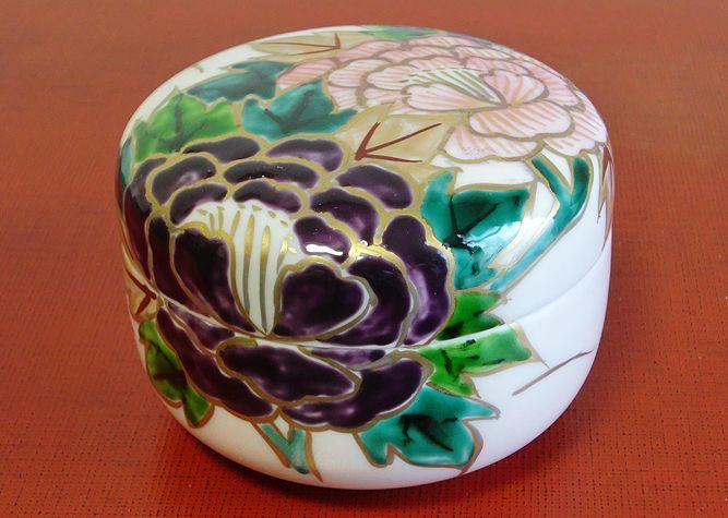 清水焼 食卓小物 花牡丹(蓋物)