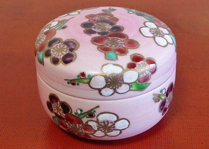 清水焼 食卓小物 花梅(蓋物)