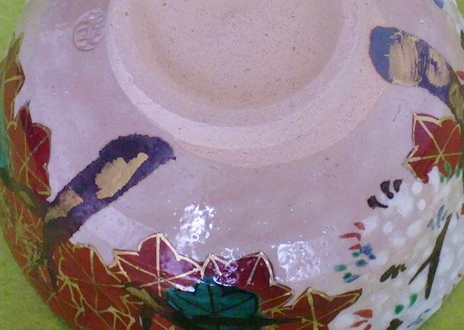 清水焼 抹茶碗 乾山雲錦