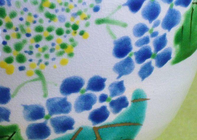 清水焼 抹茶碗 紫陽花